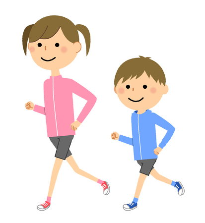 Boys and girls, Jogging