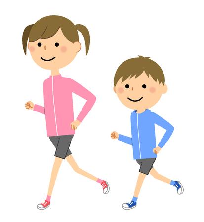 Garçons et filles, Jogging