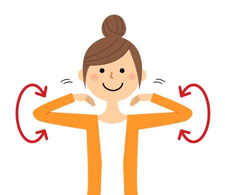 Mujer joven, estirar Ilustración de vector