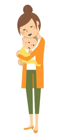 Mother and baby Ilustración de vector
