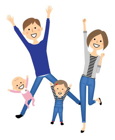 Famille à sauter