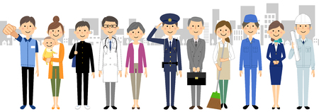 People in the city  イラスト・ベクター素材