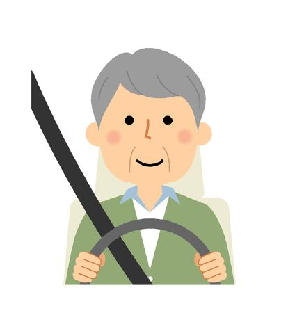 Elderly man, Driving