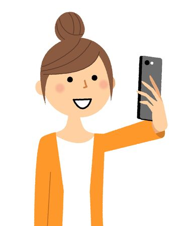 Young woman,mama,Selfie