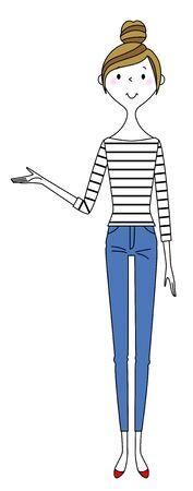 Young woman, mama, explanation Illustration