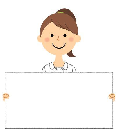 Nurse, White board Иллюстрация