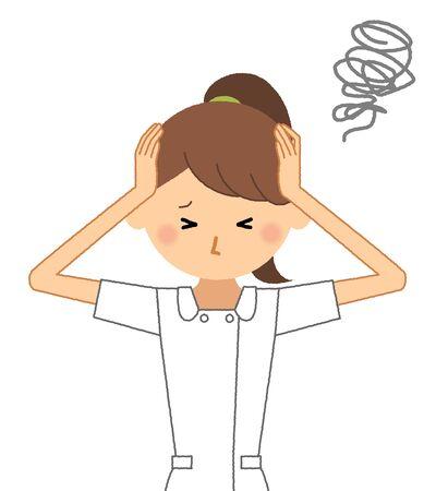 Krankenschwester, um einen Kopf zu halten Vektorgrafik