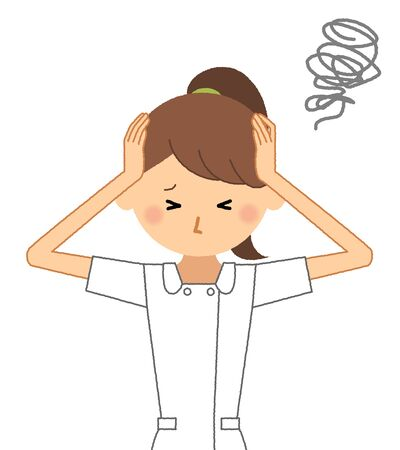 Verpleegkundige, om een hoofd vast te houden Vector Illustratie