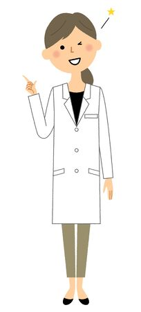 The female of the white coat, Finger pointing