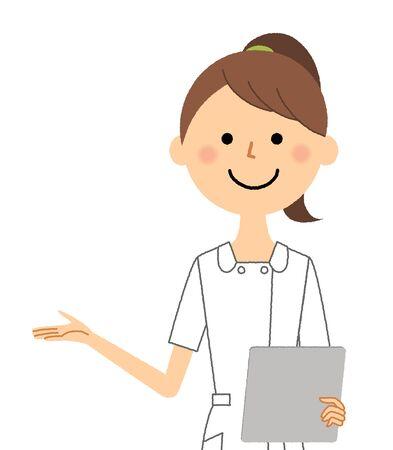 Nurse,Medical chart Ilustración de vector