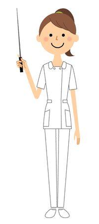 Nurse, Pointer stick Ilustração