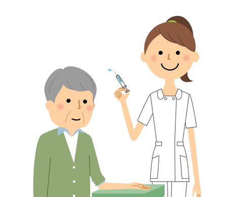 Nurses and the elderly, injection