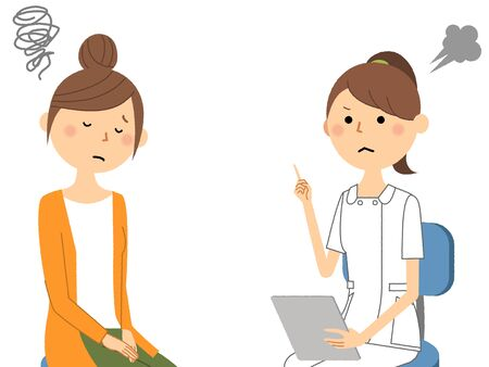 Nurses, Consultation Stock Illustratie