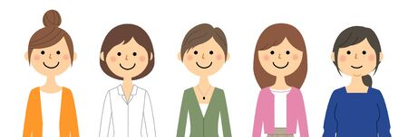 Women Stock Illustratie
