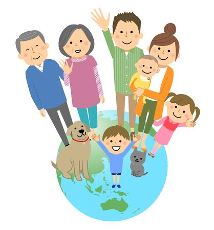 Good family and earth