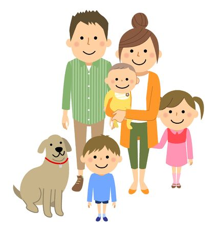 Good family Stock Illustratie