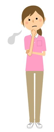 Care Giver,Nursing Assistant,Sigh Illustration
