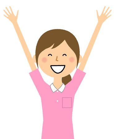 Care Giver,Nursing Assistant,Give Both Hands Up