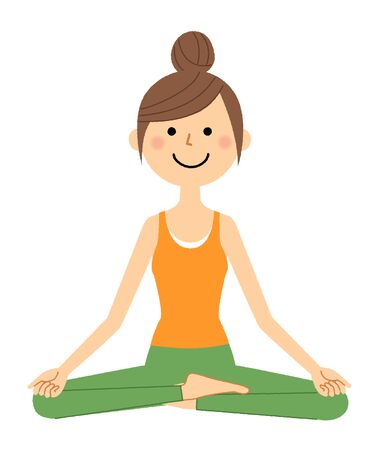The woman who does yoga 스톡 콘텐츠 - 133347662