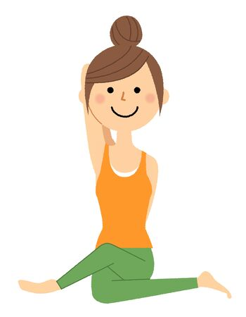 The woman who does yoga 스톡 콘텐츠 - 133347661