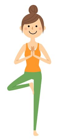 The woman who does yoga 스톡 콘텐츠 - 133347812