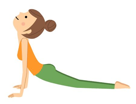 The woman who does yoga 스톡 콘텐츠 - 133347669
