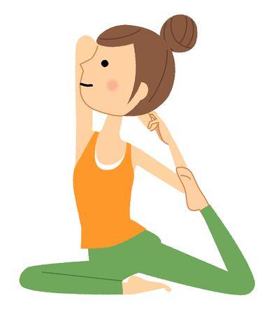 La donna che fa yoga