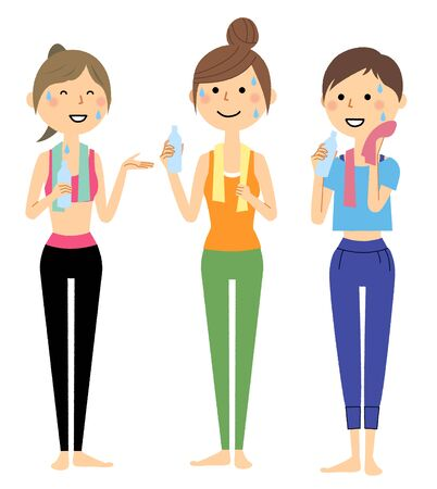 Women hydrating after sports 스톡 콘텐츠 - 133347819