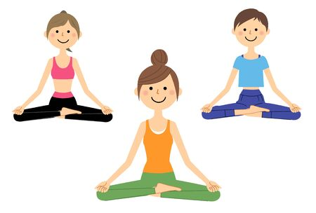 An Illustration of the Women Who Do Yoga. 스톡 콘텐츠 - 133347821
