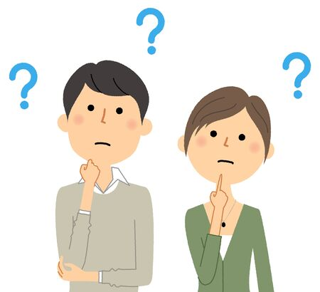 Young couple, Question 向量圖像