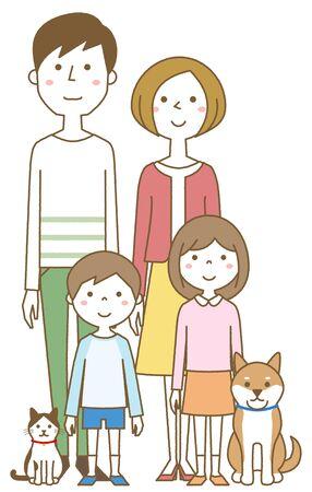 Happy family Foto de archivo - 133995581