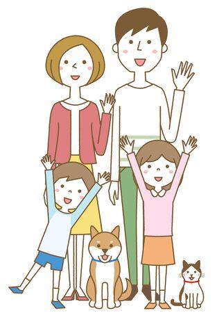 Happy family Foto de archivo - 133995582