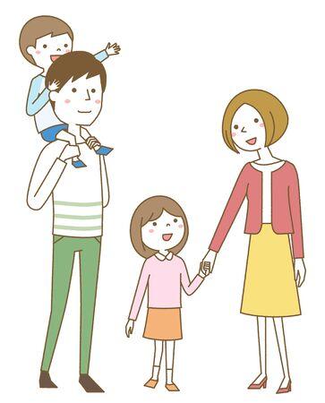 Happy family Foto de archivo - 133995585