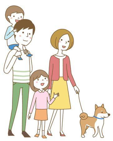 Happy family taking a walk Foto de archivo - 133995599