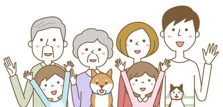 Happy family Foto de archivo - 133995590