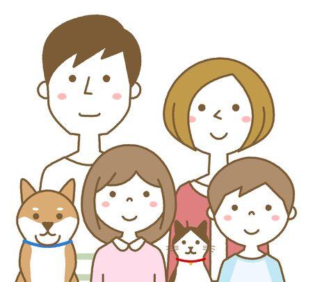 Happy family Foto de archivo - 133995594