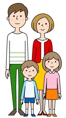 Happy family Foto de archivo - 133995683