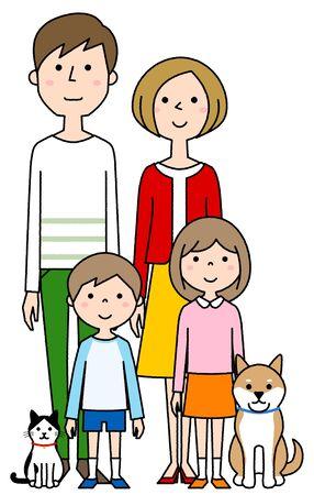 Happy family Foto de archivo - 133995678