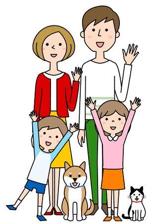 Happy family Foto de archivo - 133995682