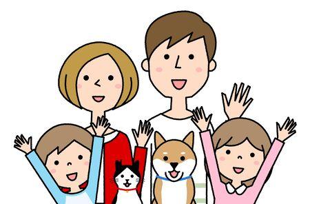 Happy family Foto de archivo - 133995696