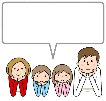 Happy Family, Speech Bubble