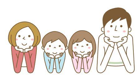 Happy family Hands On Cheeks Foto de archivo - 133995716