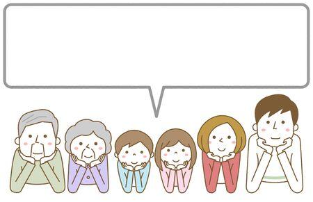 Happy Family, Speech Bubble