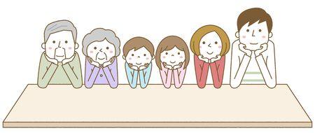 Happy family Hands On Cheeks Foto de archivo - 133995727