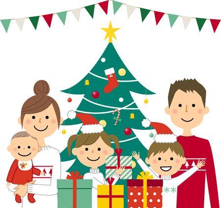 Christmas,Family  イラスト・ベクター素材