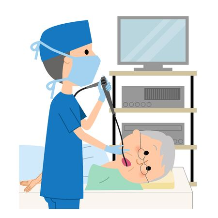 Elderly man, Gastroscope