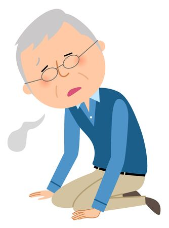 Elderly man, Malaise