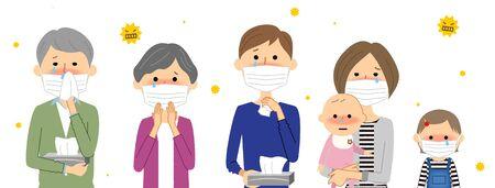 Family, Hay Fever Illustration