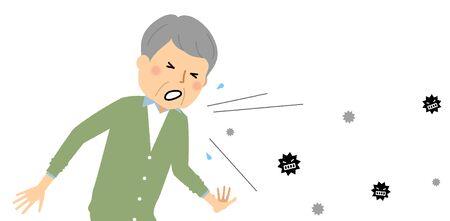 Elderly Man, Poor Health Influenza,