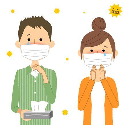 Family, Hay Fever Stock Illustratie